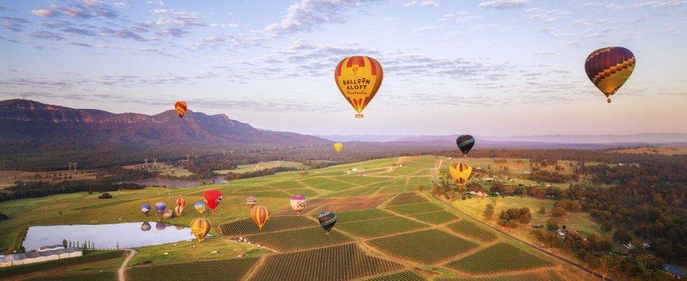balloon aloft over valley up