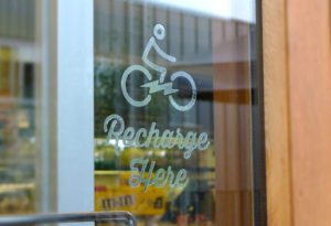 Charge About window graphic
