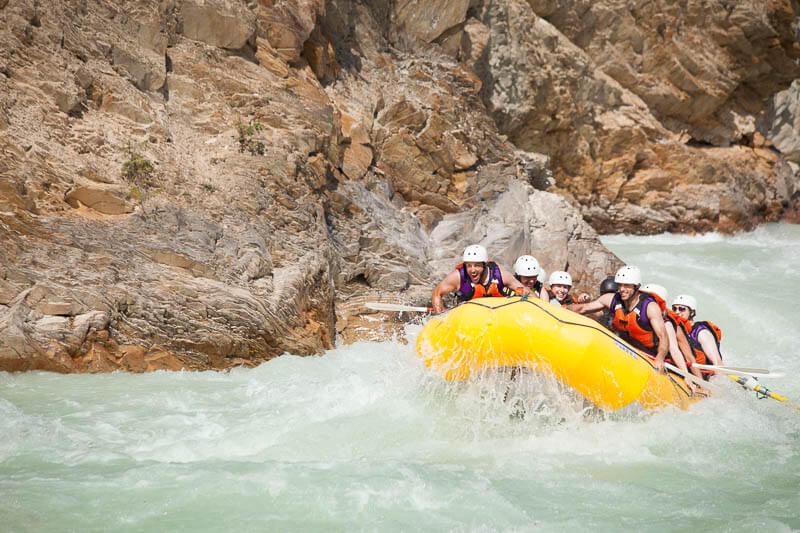 glacier rafting boat in up